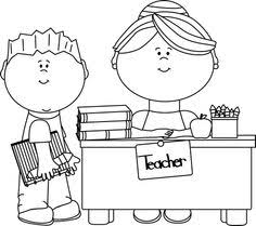 student desk clipart black and white. black and white boy student at teacher\u0027s desk clip art - vector image clipart