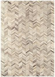 chevron cowhide rug