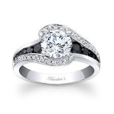 barkev s modern black diamond engagement ring 7898