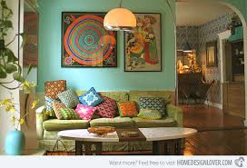 hippie chic bohemian living room