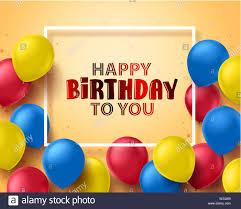 Balloon Birthday Card Design Happy Birthday Greeting Card Design With Colorful Birthday