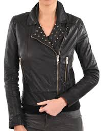 las studded fashion jacket womens leather jacket