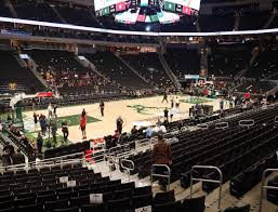 Bucks Seating Chart Fiserv Forum Section 119 Seat Views Seatgeek