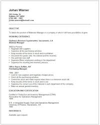 Best Ideas of Material Management Resume Sample In Form