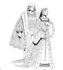 Couple Du Moyen Age à Colorier