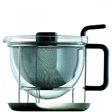 Designer Glass Teapot Borosilicate Glass Teapot Stainless Steel Commercial