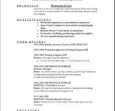 Resume Sample Restaurant Topshoppingnetwork Com
