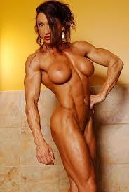 Muscular women posing nude