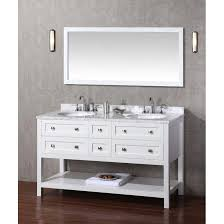 60 Bathroom Cabinet Dcor Design Albia 60 Double Sink Bathroom Vanity Set With Mirror