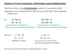 13 systems of linear equations elimination using multiplication