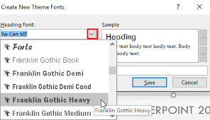 Create Your Own Theme Fonts Set In Powerpoint 2016 For Windows