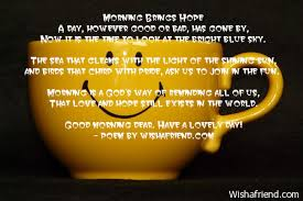 Good Morning Poems And Quotes Best of Good Morning Poems