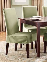 dining chair covers. Cotton Duck Shorty Dining Chair Slipcover Covers Wayfair