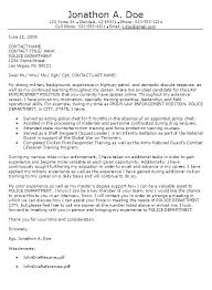 Cover Letter Sample Police Officer Reference Number Example