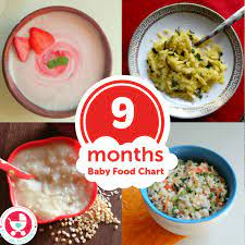 food chart meal plan 9 month old baby