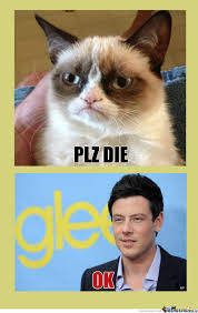 Plz Die - A Gleeful Response by richardsdick - Meme Center via Relatably.com