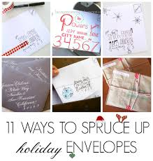 How To Address A Christmas Card 11 Clever Christmas Card Envelopes C R A F T