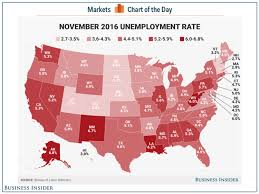 State Unemployment Rate Map November 2016 Business Insider