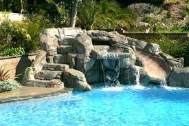 pool waterfall slide waterfalls for pools island style stone builder small fiberglass f pool slide elegant refinishing restoring a fiberglass