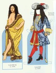 louis xiv the sun king a baroque paper doll by david claudon  roi louis xiv