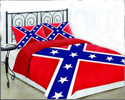 Confederate Battle Flag KING Size Set forter & Sham Cooters