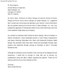Designer Cover Letter Interior Design Cover Letter Samples Download
