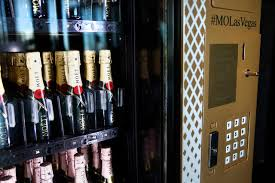 Champagne Vending Machine Delectable Champagne Vending Machine In Las Vegas Is Only One Of Its Kind In