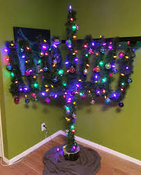 This crossover tree of a menorah and a Christmas tree is great for multi  faith roommates and families