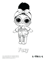 Lol Doll Coloring Pages Pets Doll Coloring Pages Foxy Surprise Page