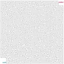 hard maze to print