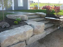 Small Picture rock wall landscaping armour stone wall with natural steps