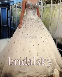 rhinestone wedding dress. Discount Ivory Rhinestone Actual Images Sweetheart A Line Chapel