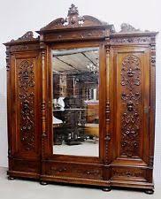 vintage antique furniture wardrobe walnut armoire. antique walnut highly carved french armoire wardrobe triple door circa 1890 vintage furniture e