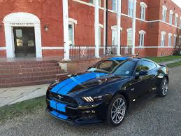 2015 ford mustang black. grabber blue stripes on black 2015 ford mustang gt fastback