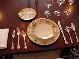 formal setting of a table. formal setting of a table e