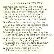 walks in beauty analysis she walks in beauty analysis