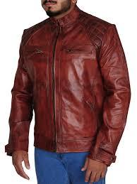 men quilted vintage cafe racer jacket