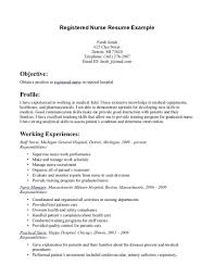 Example Of Nursing Resume Beauteous Example Student Nurse Resume Free Sample Nursing School Templates