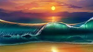 Beach Paintings Wallpapers - Top Free ...