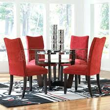 dining room modern dinette sets 7 piece set glossy red furniture television