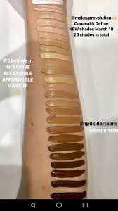 new makeup revolution foundation sticks look at that shade range
