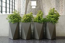 Stunning Accessories For Garden Landscaping Decoration With Modern Concrete  Planters