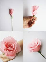 Make Flower With Paper How To Make Paper Flowers For A Wedding Bouquet Craft Ideas