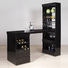 white home bar furniture. Unique Black Wooden Home Bar Cabinet Designs With Tansparent Glass Shlevs And Bottles Shelve Over Clen White Porcelain Floor Furniture .