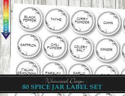 Avery Jar Labels 80 Spice Jar Labels Whimsical Leaf Digital Printable Diy Labels Avery Templates Spice Labels Pantry Labels Instant Download