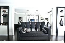 living room and dining room white walls black trim modern black trim living room living room
