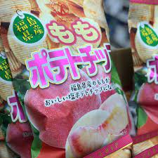 桃 の ポテト チップス