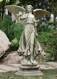 angel on pedestal garden statue 46 5