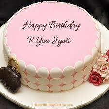 Birthday Cake Jyoti Name Image Cakedesignsbyjessicacom
