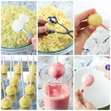 In a large bowl, crumble the prepared cake into fine crumbs. How To Make Cake Pops Starbucks Copycat Video Simply Home Cooked